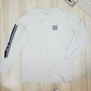 Vans Men's Long Sleeve Tee XL NWT Gray Check Logo